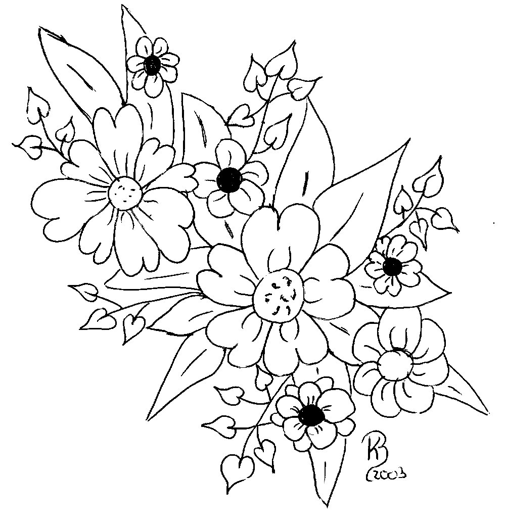 Fantastisch Blumensträuße Malvorlagen Zeitgenössisch - Malvorlagen ...
